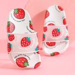 Papuci de vara pentru copii, cu cap?uni simpatice, cu talpa flexibila anti alunecare