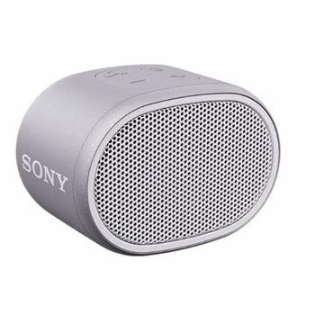Boxa portabila Sony SRSXB01W, Rezistenta la stropire, Extra Bass, Bluetooth, Hands Free, Autonomie 6 ore, Alb