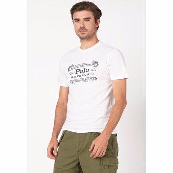 Tricou slim fit cu imprimeu logo