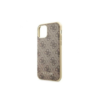 Husa de protectie, Guess 4G Collection, iPhone 11, Maro
