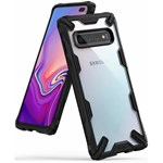 Husa Samsung Galaxy S10 Plus Ringke FUSION X Transparent Negru 8809628568969