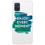 Husa Silicon Soft Upzz Print Samsung Galaxy A51 Model Enjoy