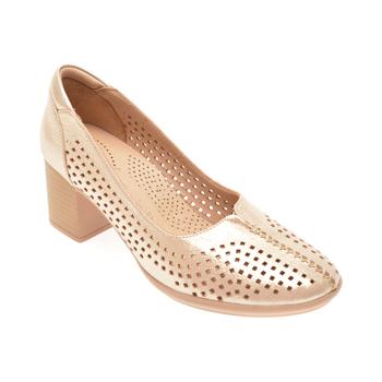 Pantofi FLAVIA PASSINI aurii, 010962, din piele naturala