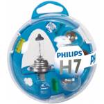 Kit rezerva bec auto halogen PHILIPS Essential Box, H7, 12V, 55W