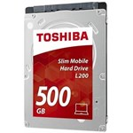 "Hard disk Toshiba HDD 2,5 "" L200 Mobile Slim 500GB HDWK105EZSTA"