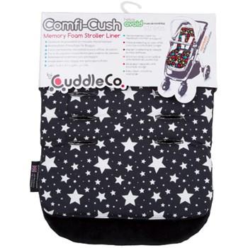 Saltea Carucior Comfi-Cush Black and White Stars