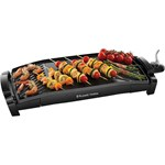 Gratar electric Russell Hobbs 22940-56, 2200W, curbat, 2 zone grill, tavita grasime, Negru
