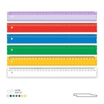 Rigla din plastic 30 cm diverse culori Albastru