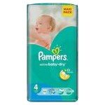 PAMPERS Scutece Active Baby 4 Value Pack 58 buc