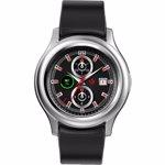 Smartwatch MyKronoz ZeRound 3 Full Amoled, Rezistent la apa IP67, Optical HR, Argintiu/Negru