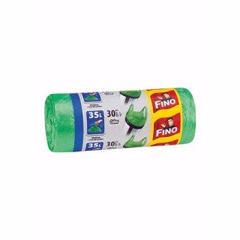 Saci menajeri Fino cu manere, 35L, verde, 30 buc