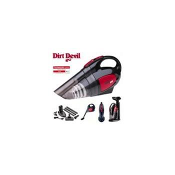Aspirator de mana Dirt Devil Handy Duo, 80W, 0.3L, Autonomie 10 min, Negru/Rosu