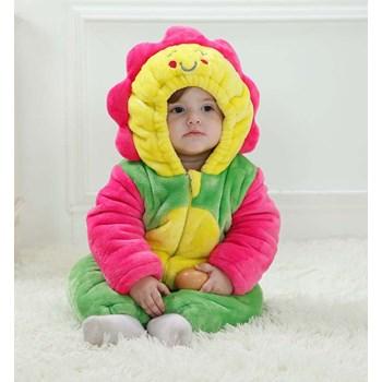 CLD47 Salopeta floarea soarelui pentru copii cu material polar