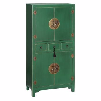 Dulap living AUXILIARY FURNITURE GREEN MDF- 63 X 33 X 131 CM