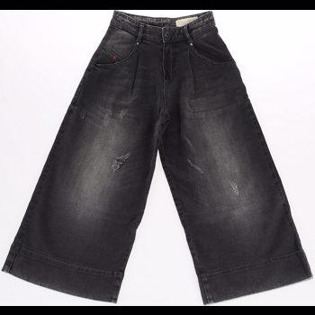 Diesel Kids Wide Leg PALTI Jeans Culoarea BLACK BM6954817
