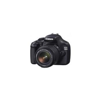 Aparat Foto D-SLR Canon EOS 1100D (Negru) cu Obiectiv EF-S 18-55DCIII si Obiectiv EF75-300 (cu stablizare imagine)
