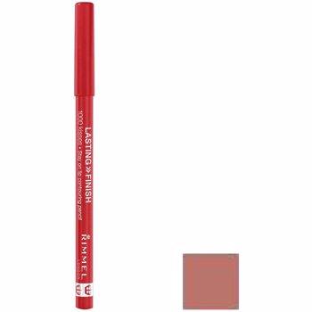 Creion de buze Rimmel London Lasting Finish, 004 Indian Pink, 1.2 g