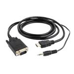 "Cablu adaptor HDMI la VGA si audio Gembird, single port, 3 m, negru, ""A-HDMI-VGA-03-10"""