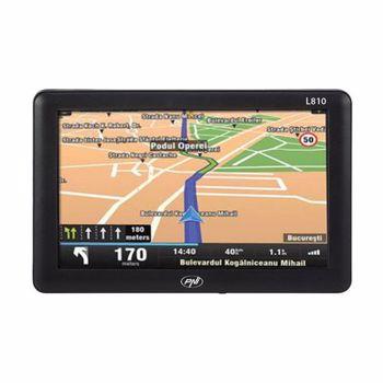 "Sistem de navigatie GPS PNI L810, LCD 7"" , 800 MHz, 256M DDRAM, 8GB, FM, harta Europei Mireo Don't Panic + Actualizari pe viata a hartilor (Negru)"