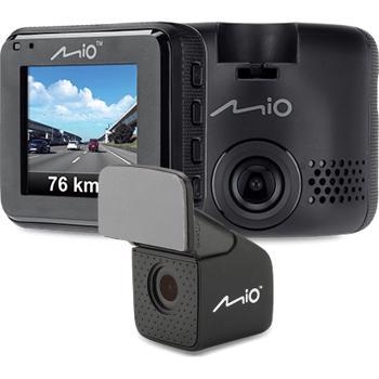 """Camera video auto Mio MiVue C380 Dual, Full HD, Ecran 2"""", GPS + Camera spate (Negru)"""
