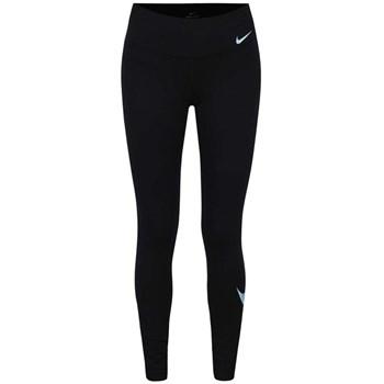 Colanti negri Nike cu print cu logo