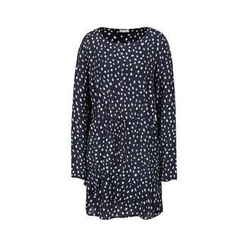 Rochie albastru inchis cu buline stilizate VILA Laury