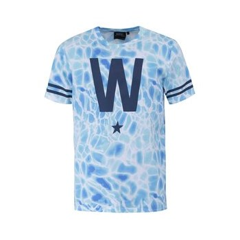 Tricou WeSC W Star, alb cu albastru