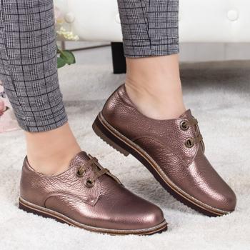 Pantofi Piele Loiami maro casual -rl