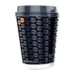 Pahare pentru bauturi calde, negru, 12oz/330ml, 50 buc/set, BRISTOT