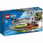 LEGO City: Transportor de barca de curse 60254, 5 ani+, 238 piese