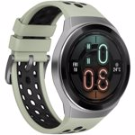 "Smartwatch Huawei Watch GT 2e, Procesor Kirin A1, Display AMOLED 1.39"", 16MB RAM, 4GB Flash, Bluetooth, GPS, Carcasa Otel, Bratara Fluoroelastomer 46mm, Rezistent la apa, Android/iOS (Verde)"