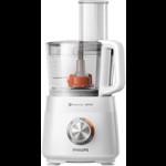 Robot de bucătărie compact Philips HR7510/00, 800 W, 2 viteze+Puls, Bol 1.5 L, Lamă oţel inoxidabil, Presă de citrice, Alb