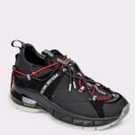 Pantofi sport FLAVIA PASSINI negri, 65420, din material textil si piele naturala