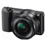 Aparat foto Mirrorless A5100LB 24.3MP, Black + Obiectiv Sony SELP1650, 16-50mm, Black