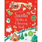 Santa Sticker & Colouring Book - Carte Usborne (3+)