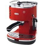 DeLonghi Espressor cu pompa ECO 311.R Icona, 15 bari, 1100 W, sistem Cappuccino, plita, oprire automata, rosu