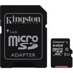 Card memorie Kingston 64GB microSDXC Class 10 UHS-I 45MB/s Read