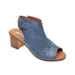 Sandale PASS COLLECTION albastre, 110, din piele naturala
