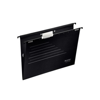 Dosar suspendabil, cu elastic, negru, 5 buc/set, LEITZ Alpha Active